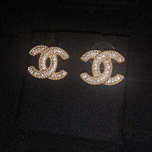 CHANEL Jewelry - Chanel Crystal Earrings
